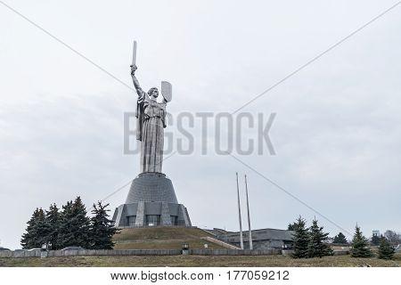Mother Motherland monument - part of Museum of the Great Patriotic War in Kiev, Ukraine