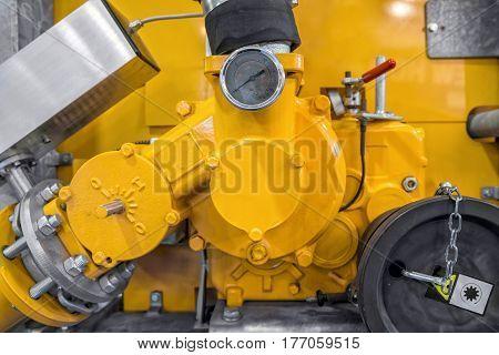 Large Industrial measurement device close up photo