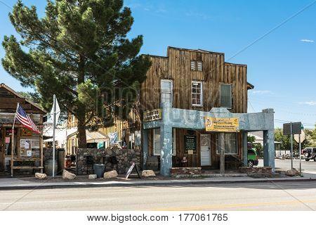 Beatty, Nevada,USA - July 9, 2016 : View of the Main Street in Beatty