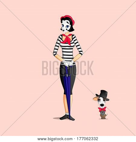 Girl Mime Performance