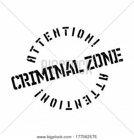 Criminal Zone rubber stamp. Grunge design with dust scratches. Effects can be easily removed for a clean, crisp look. Color is easily changed.