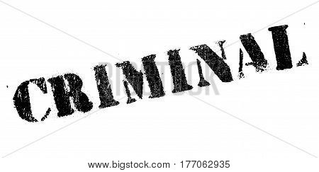 Criminal rubber stamp. Grunge design with dust scratches. Effects can be easily removed for a clean, crisp look. Color is easily changed.