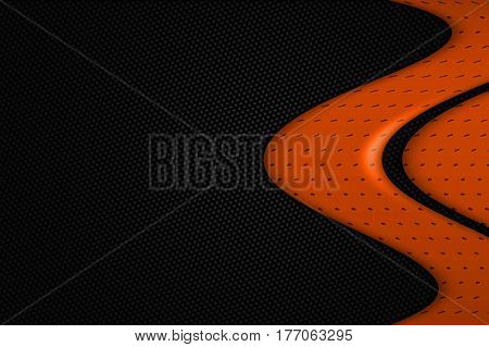 Orange And Black Metal Background