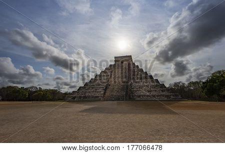 Chichen itza pyramids in Yukatan region of Mexico