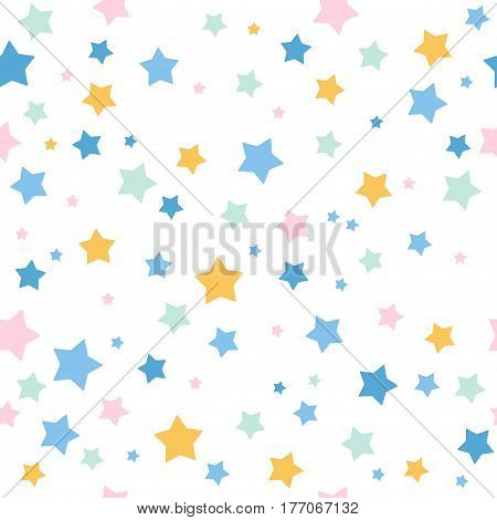 Seamless pattern with stars. Colorful illustrations for textile wallpaper and background. Vector illustration