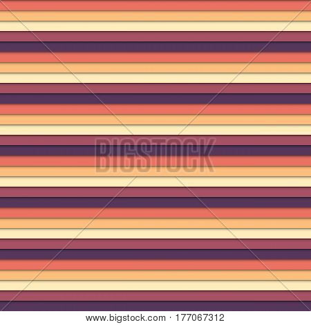 Colorful stripe seamles pattern in muted vintage colors - shades of yellow and red