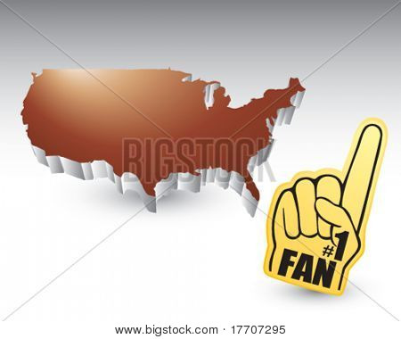 fan hand featured with the united states