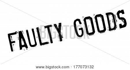 Faulty Goods rubber stamp. Grunge design with dust scratches. Effects can be easily removed for a clean, crisp look. Color is easily changed.