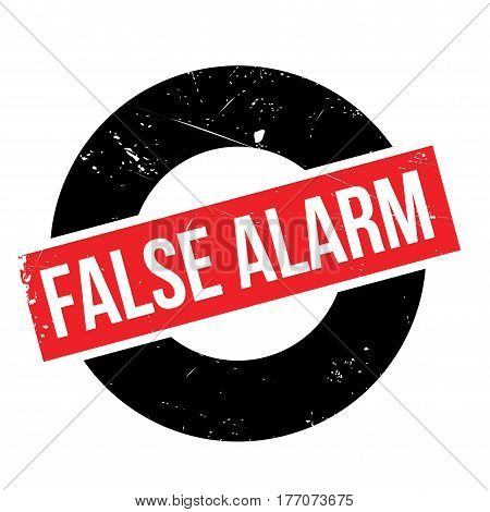 False Alarm rubber stamp. Grunge design with dust scratches. Effects can be easily removed for a clean, crisp look. Color is easily changed.