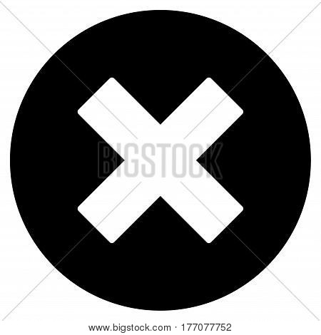 Cancel vector icon. Flat black symbol. Pictogram is isolated on a white background. Designed for web and software interfaces.