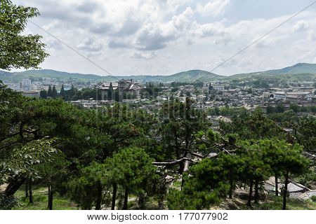 view of the city of Kaesong North Korea.