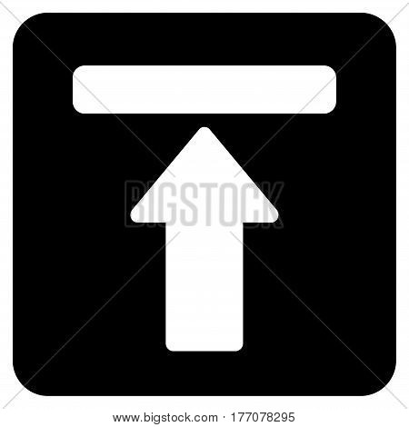 Expand Menu vector icon. Flat black symbol. Pictogram is isolated on a white background. Designed for web and software interfaces.