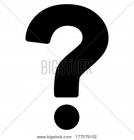 Question vector icon. Flat black symbol. Pictogram is isolated on a white background. Designed for web and software interfaces.
