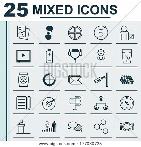 Set Of 25 Universal Editable Icons. Can Be Used For Web, Mobile And App Design. Includes Elements Such As Money Trasnfer, Publication, Fertilizer And More.