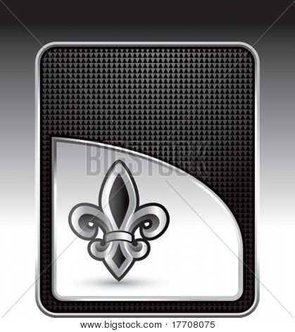 fleur de lis on black checkered background