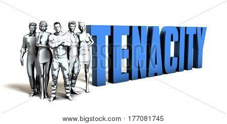 Tenacity Business Concept as a Presentation Background 3D Illustration Render