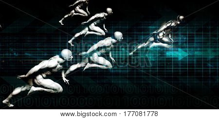 Information Security and Worldwide Data Protection on White 3D Illustration Render