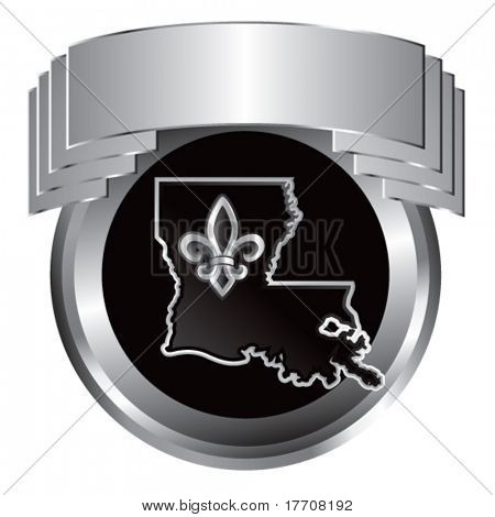 louisians icon in silver display