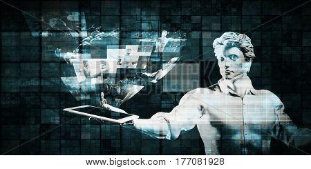 Multimedia Technology Content System for Entertainment 3D Illustration Render