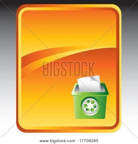 recycle bin on gold background