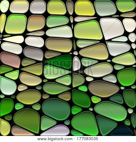 abstract vector stained-glass mosaic background - green and gray