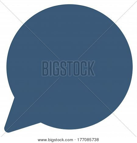 Hint Balloon vector icon. Flat blue symbol. Pictogram is isolated on a white background. Designed for web and software interfaces.