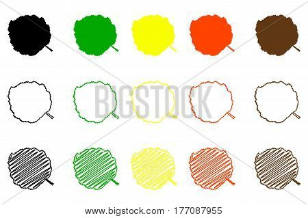 Hazel leaf - color set , hazel leaf
