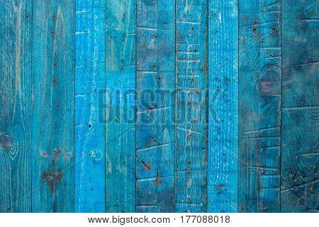 Blue Wooden Panel
