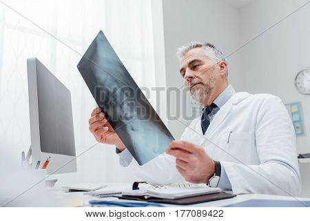 Radiologist Checking An X-ray Image