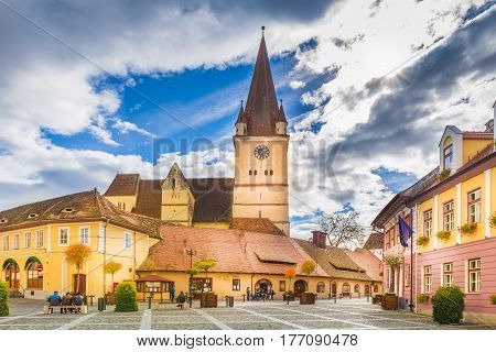 Fortified evangelical church in Cisnadie Sibiu Romania