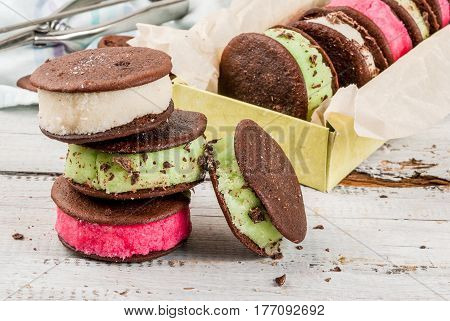 Ice Cream Sandwich With Whoopie Pie Cookies