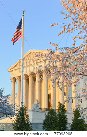 United States Supreme Court in springtime - Washington D.C. United States