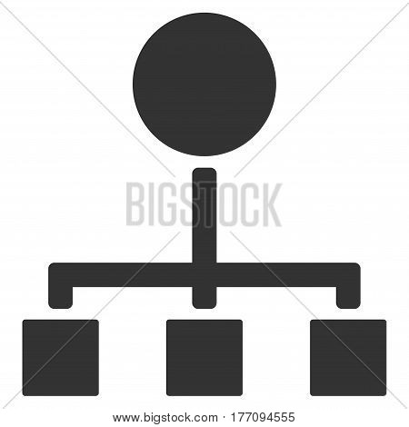 Hierarchy vector icon. Flat gray symbol. Pictogram is isolated on a white background. Designed for web and software interfaces.