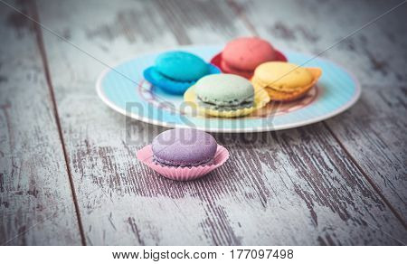 Multicolored Macaroon Cookies
