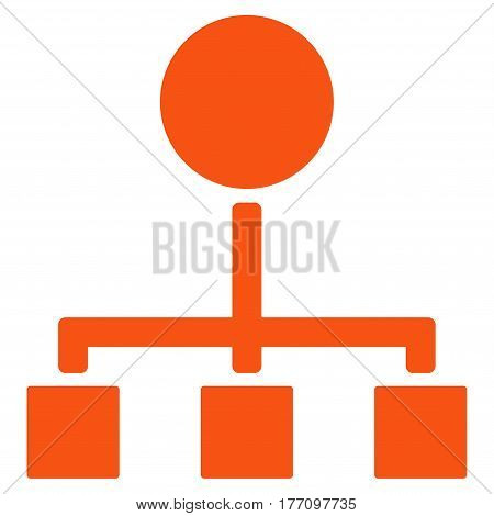 Hierarchy vector icon. Flat orange symbol. Pictogram is isolated on a white background. Designed for web and software interfaces.