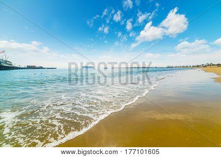 a colorful shore in Santa Barbara California