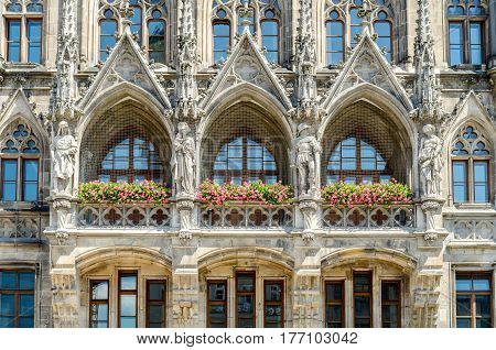 The New Town Hall is a town hall at the northern part of Marienplatz in Munich Bavaria Germany.