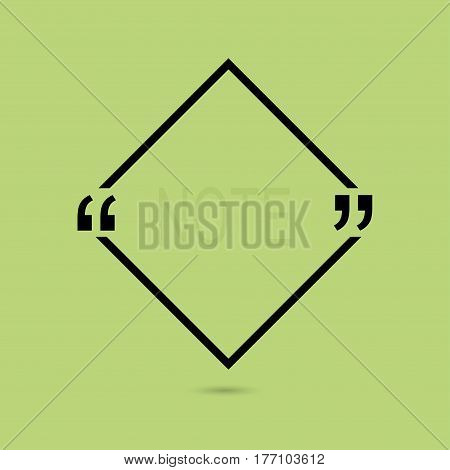 Vector abstract background with triangles.Quotation Mark Speech Bubble. Quote sign icon.