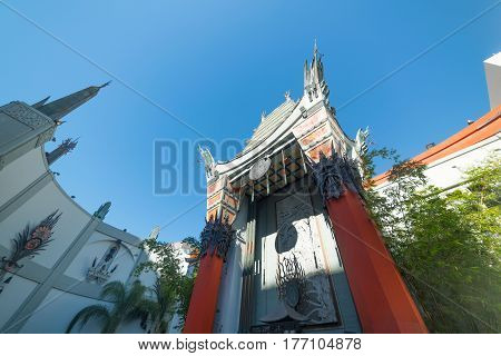 Los Angeles CA USA - November 02 2016: TCL Chinese Theater in Hollywood