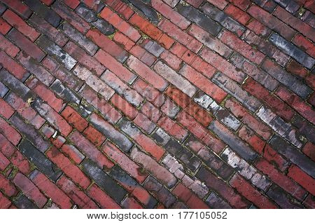Tiled pavement texture. Abstract diagonal background.