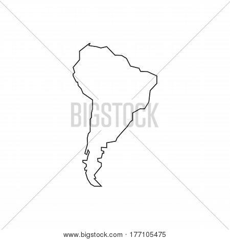 Brazil map silhouette illustration on the white background. Vector illustration