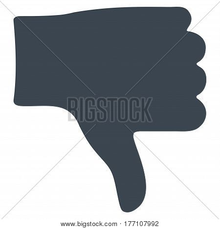 Thumb Down vector icon. Flat smooth blue symbol. Pictogram is isolated on a white background. Designed for web and software interfaces.