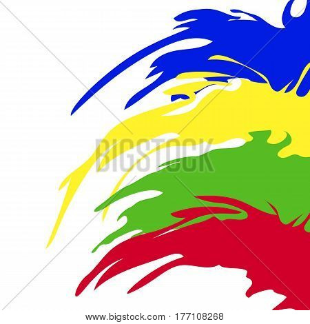 Vector colorful banner. Artistic abstract background. Funny paint