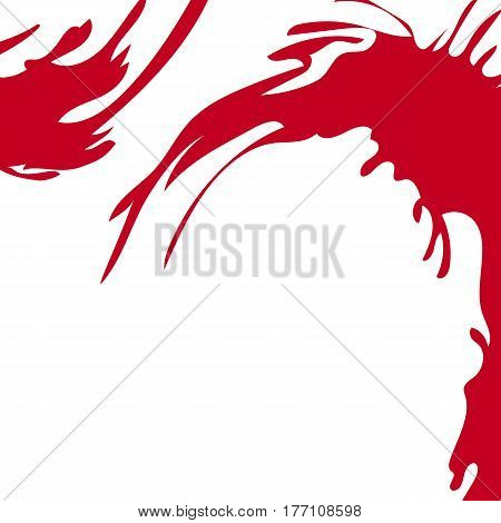 Vector artistic abstract background. Colorful funny template