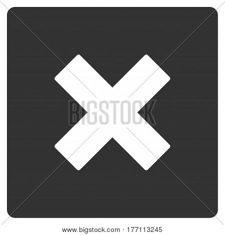 Close vector icon. Flat gray symbol. Pictogram is isolated on a white background. Designed for web and software interfaces.