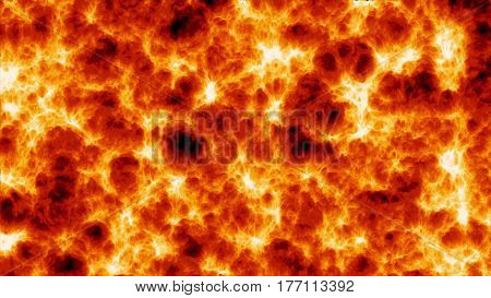 Incandescent Burning Fire Lava. The Tongues Of Flame. Background