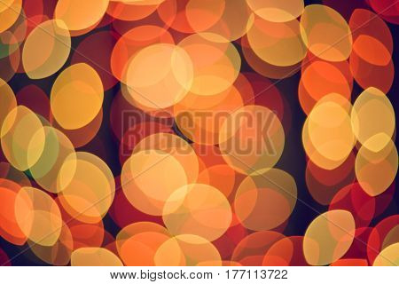 Abstract defocused blurred lights background. Christmas and holidays