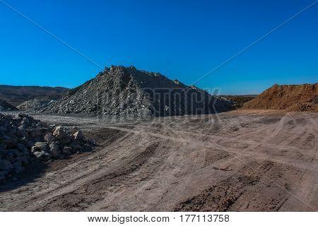 Clay quarry in Castellon. Spain. November 2007