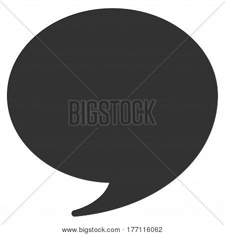 Quote vector icon. Flat gray symbol. Pictogram is isolated on a white background. Designed for web and software interfaces.