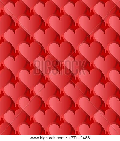 seamless pattern with heart shapes - vector illustration